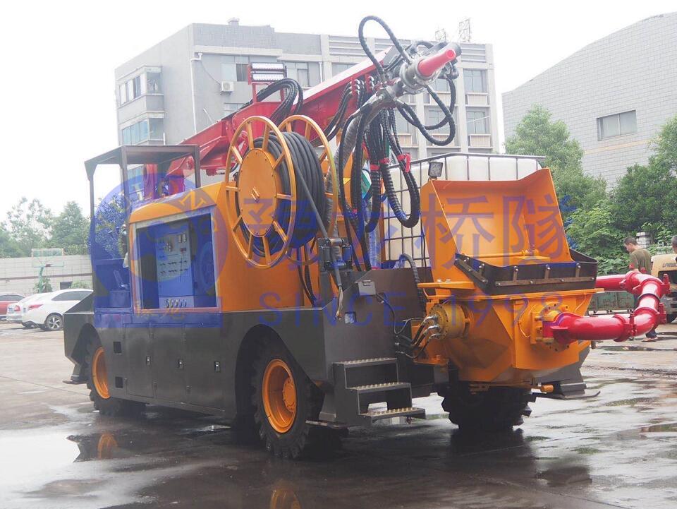 豫龙混凝土湿喷台车机械手现货